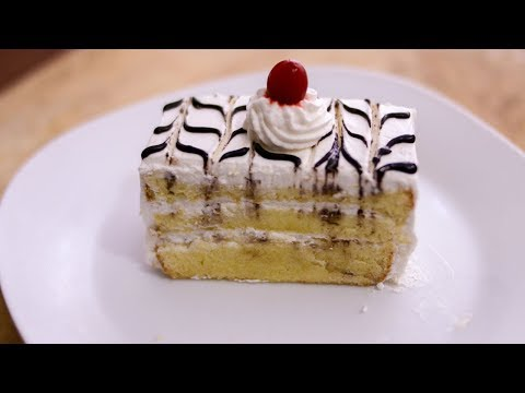 Vanilla Pastry Cake Recipe || Pastry Cake Recipe - No oil No Butter|| Pastry Cake Without Oven