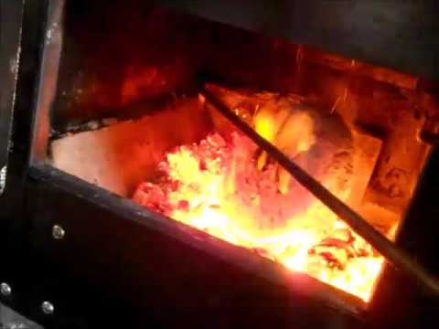 Burning a Homemade Compressed Paper Brick