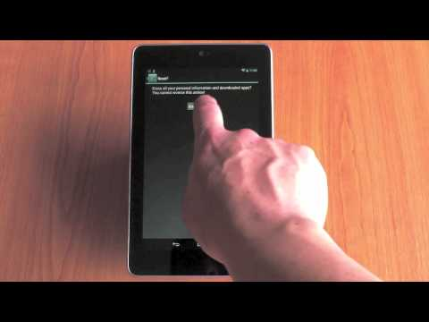 4977 How to factory reset a Google Nexus 7 tablet