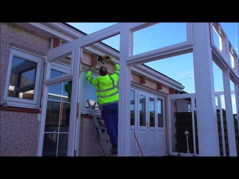 Build a conservatory p3 Doing the roof