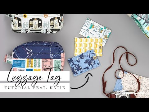 Ready to Travel: DIY Fabric Luggage Tag   Spoonflower