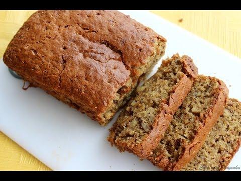 Banana & walnut Cake Eggless - Eggless baking recipes