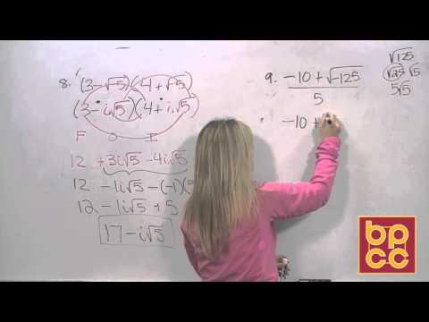 Math 102 Module 3.2 - Complex Numbers