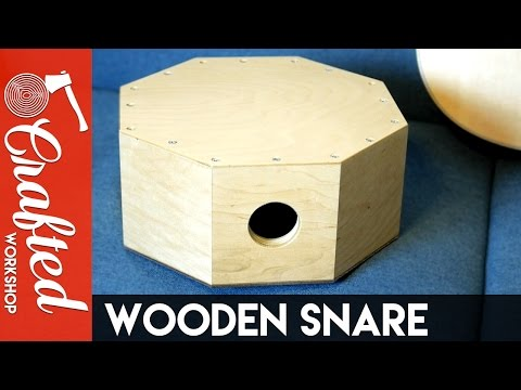 Wood Snare Drum / DIY Cajon Snare | Crafted Workshop