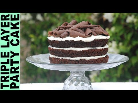 GLUTEN FREE CAKE RECIPE  WITH CHOCOLATE CURLS Decorations for Cakes How To Make