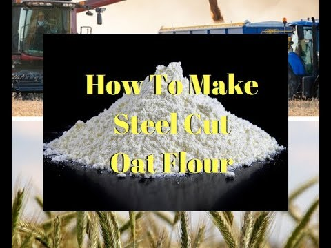 How to Make Gluten-Free Steel Cut Oat Flour- Make Oat Flour