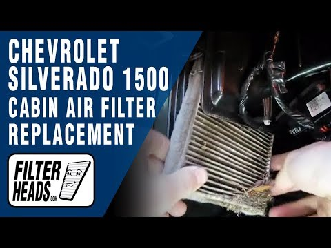 How to Replace Cabin Air Filter Chevrolet Silverado 1500