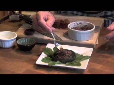 Chef Hobbes Presents:  Portobella Mushrooms with Laura Chenel Goat Cheese, Sun Dried Tomatoes