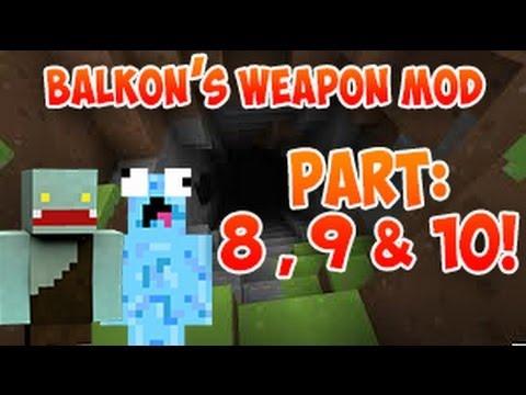 3 PARTS im ERDLOCH! - Let's Battle S3 #8,9 & 10 Minecraft Balkon's Weapon Mod | ungespielt