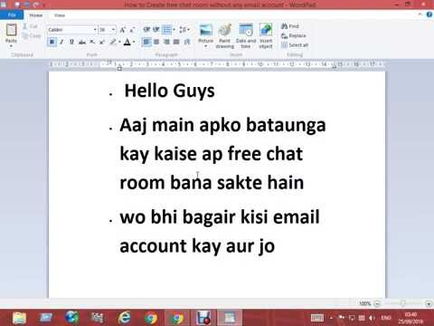 How to create free chat room without any email account urdu hindi tutorial