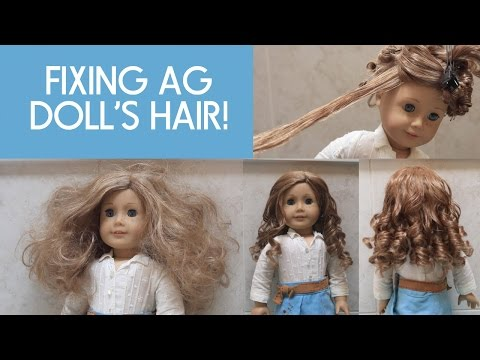Fixing American Girl Doll Nicki's Hair!