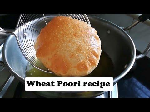 soft poori recipe in hindi - wheat flour puri -पूरी (इस तरह से बनाये)