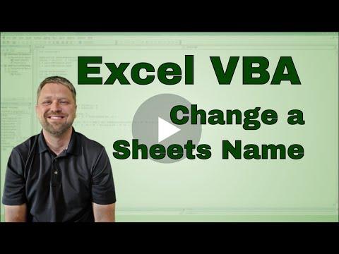 Excel VBA Change Sheet Name