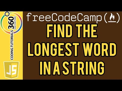 Bonfire: Find the Longest Word in a String JavaScript FreeCodeCamp.com
