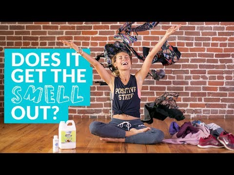 How to Get the Smell Out of Your Yoga Clothes - OdorKlenz Product Review