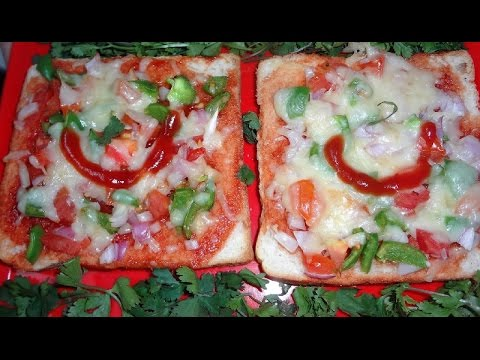 How to Make Bread Pizza in Microwave/Quick Pizza Recipe
