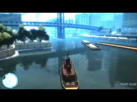 GTA IV- Driving the cargo boat from 2nd trailer
