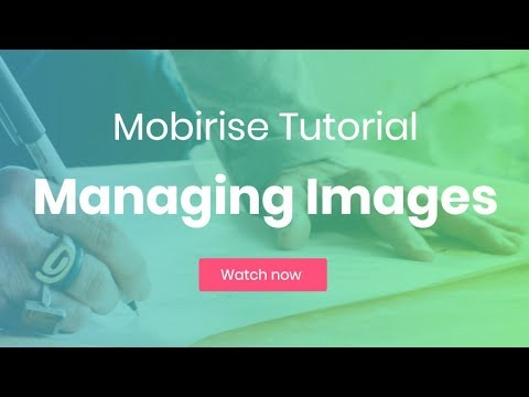 Managing Images | Mobirise HTML5 Website Creator