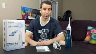 Gurin Professional Rechargeable Oral Irrigator Water Flosser Review and Demo