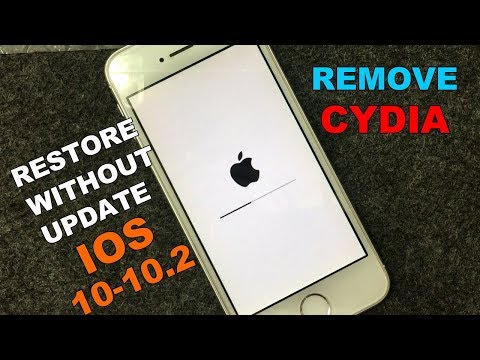 How to Unjailbreak/Remove Jailbreak on iOS 10 - 10.2 | Delete Cydia & Restore |2017|