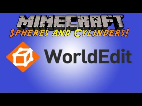 Minecraft Plugin Tutorial - WorldEdit - Shapes: Spheres, Cylinders and Pyramids