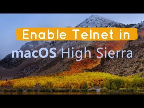 Enable Telnet in mac OS High Sierra