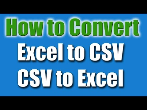 How to Convert Excel to CSV 2016 | Excel files to CSV