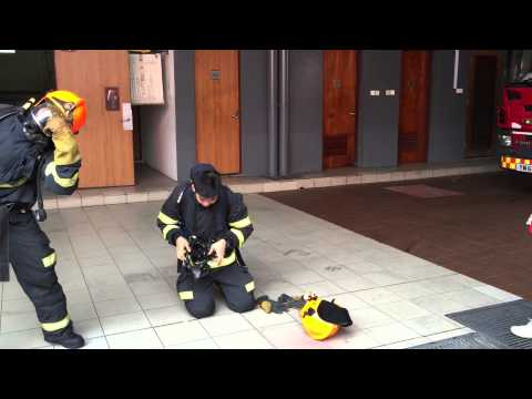 SCDF Fire Station Open House - Donning Challenge