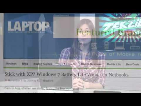 Windows 7 & XP Battery Life Ultimate Test - Tekzilla Clips
