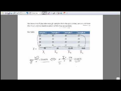 Sampling Distribution- Finding Mean & Standard Deviation