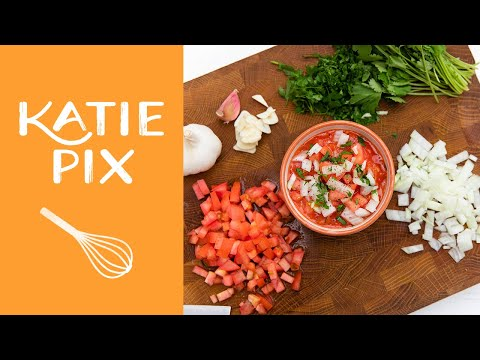 How to Make a Salsa Dip Recipe   Katie Pix