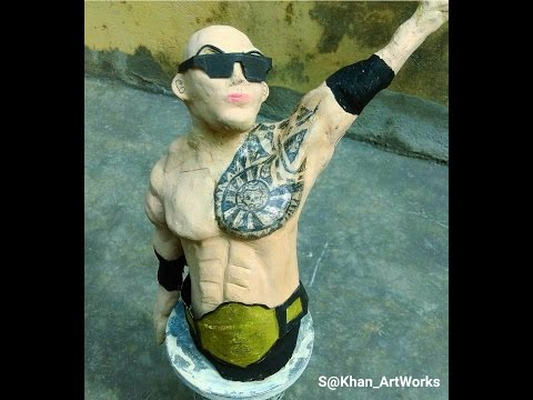 Making of  WWE SUPERSTAR THE ROCK STATUE/ ACTION FIGURE /SCULPT/ SCULPTURE / ACTION FIGURE TUTORIAL