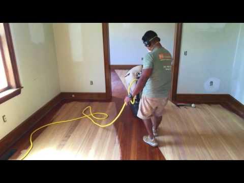 Sanding Heart Pine Hardwood Floors