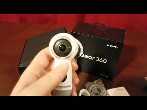 Samsung Gear 360 2017 camera unboxing!
