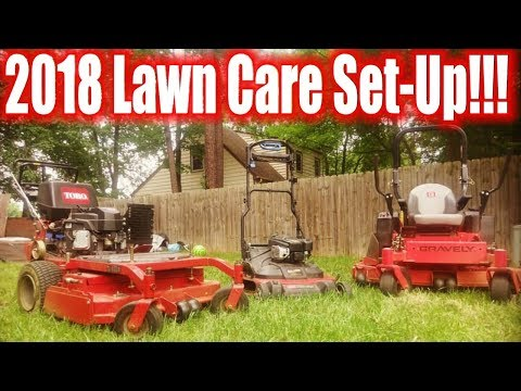 2018 Lawn Care Set Up / Starting Line up