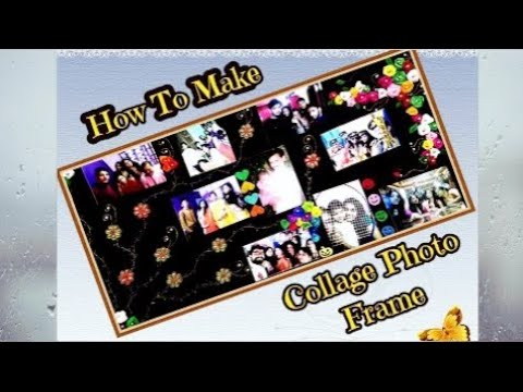 How To Make Collage Photos Frame | With Thermocol, Velvet Paper And Other Decoration Things..