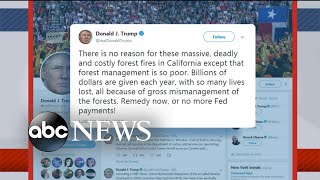 Trump faces backlash for response to California fires