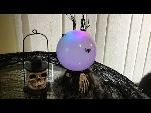 DIY Crystal Ball Halloween Prop Tutorial 2017