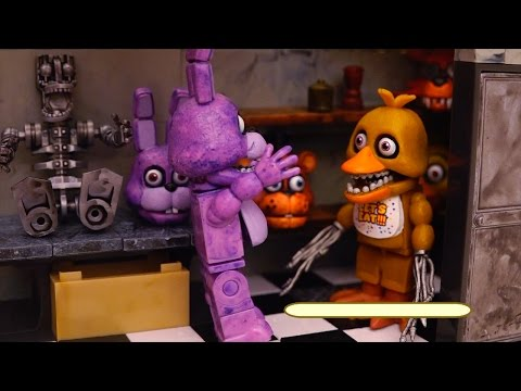 Foxy Steals Bonnie's Guitar ! Toys and Dolls Fun Playing with FNAF Backstage and Office Sets