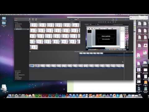 using iMovie: converting MOV to MP4, editing