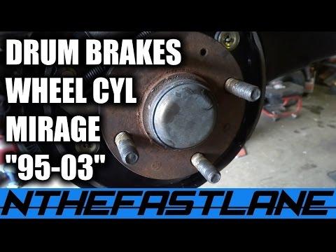 Drum Brake & Wheel Cylinder: How To Replace (Mitsubishi Mirage 2000)