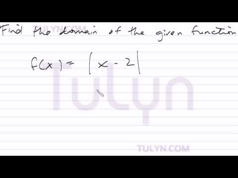 finding the domain of absolute value function