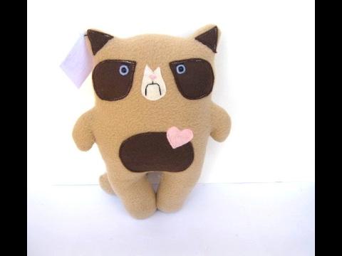 DIY Grumpy Cat Plush! || EASY Tutorial How to Make A Stuffed Animal