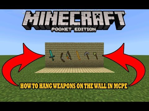 HOW TO HANG WEAPONS ON THE WALL IN MCPE (Minecraft PE)