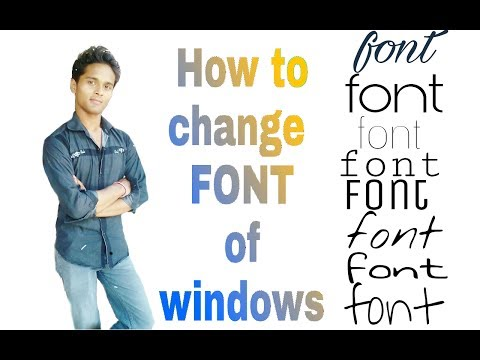 How to change Font of Windows 7/8/8.1/10