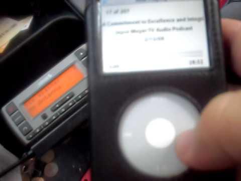 Ipod played through sirius reciever