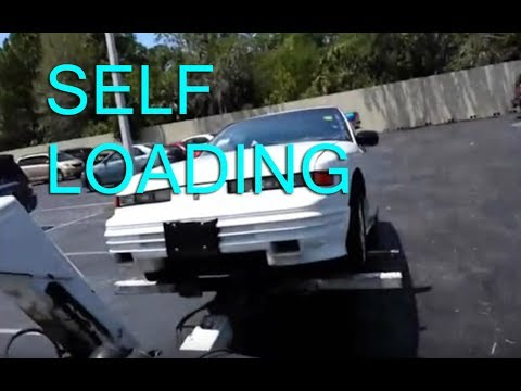 How to Use a Self loading wheel lift TOW TRUCK