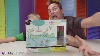 FINGER PRINT Doodles + Shrinky Dinks Toy Reviews with HobbyKidsTV