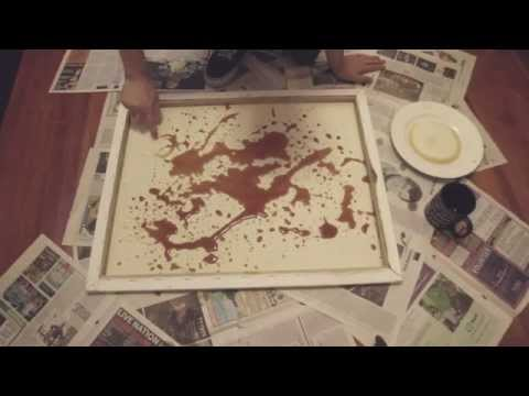 Making Coffee Stain Art (by Makiato)