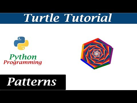 Python Turtle Graphics - Pattern 2 | Drawing Different Shapes